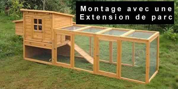Extensions pour poulaillers en bois