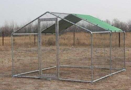 Parc enclos grillagé pour poules ou poulailler