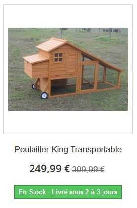 poulailler king transportable