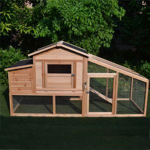 Poulailler Soie 4 à 6 poules toit shingle et polycarbonate