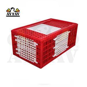 Cage-de-transport-grande-volaille-96x57x42cm-rouge-vue-générale