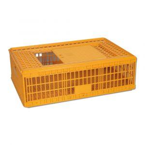 Cage de transport pour poules jaune