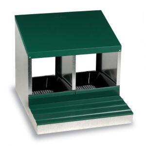 Pondoir poule 2 nichoirs avec fond métal - Gaun