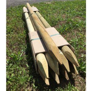 Lot-de-9-piquets-bois-pin-autoclave-classe-3---150-x-5-cm