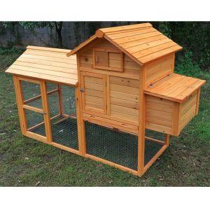 Poulailler-Breda-L-4-à-6-poules-toit-bois-profil-avant
