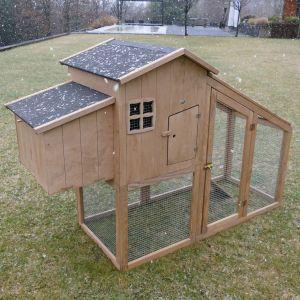 Poulailler Buckeye toit shingle 2 à 4 poules bois FSC vue d'ensemble