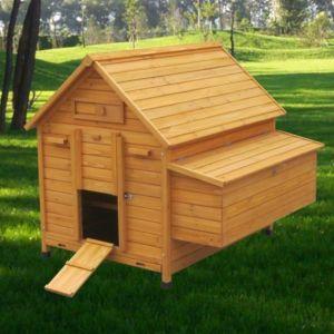 Poulailler Landais 6 à 8 poules toit bois