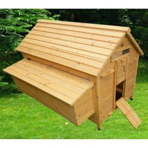 Poulailler Challans 10 à 15 poules toit bois