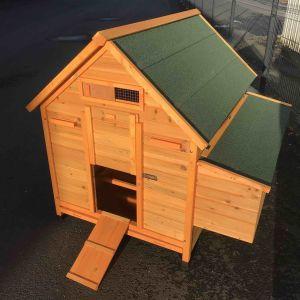 Poulailler Landais 6 à 8 poules toit shingle vert