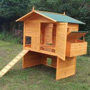 Poulailler Vorwerk 10 à 12 poules toit shingle vert