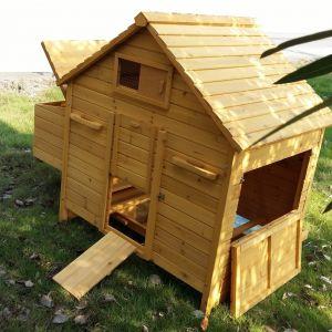 Poulailler-Bassette-XL-6-à-10-poules-vue-plan-large-ouvert
