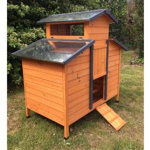 Poulailler Farmer XL 6 à 8 poules Bois FSC toit tôle profil avant
