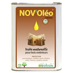 Huile de lin pour bois bidon 1L Nov'Oleo