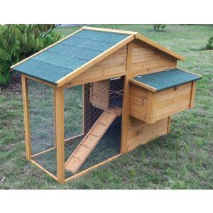 Poulailler enclos Orava toit shingle 2 à 4 poules