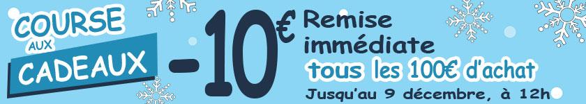 Course aux cadeaux : 10€ de remise immédiate tous les 100€ d'achat